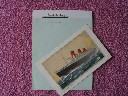 UNUSED RMS QUEEN MARY CABIN WRITING PAPER AND AN ABSTRACT OF LOG CARD FROM 1961