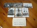 SET OF BLACK/WHITE POSTCARDS WITH VIEWS ON BOARD HMS VICTORY