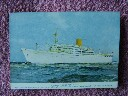 ORIGINAL COLOUR POSTCARD/PICTURE OF THE ROYAL MAIL LINES VESSEL THE AMAZON