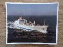 LARGE COLOUR PHOTOGRAPH OF THE BLUE STAR LINE VESSEL THE ANDALUCIA STAR