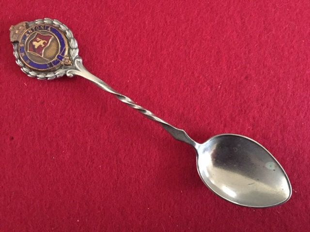 SOUVENIR SPOON FROM THE CUNARD LINE VESSEL THE RMS ANTONIA