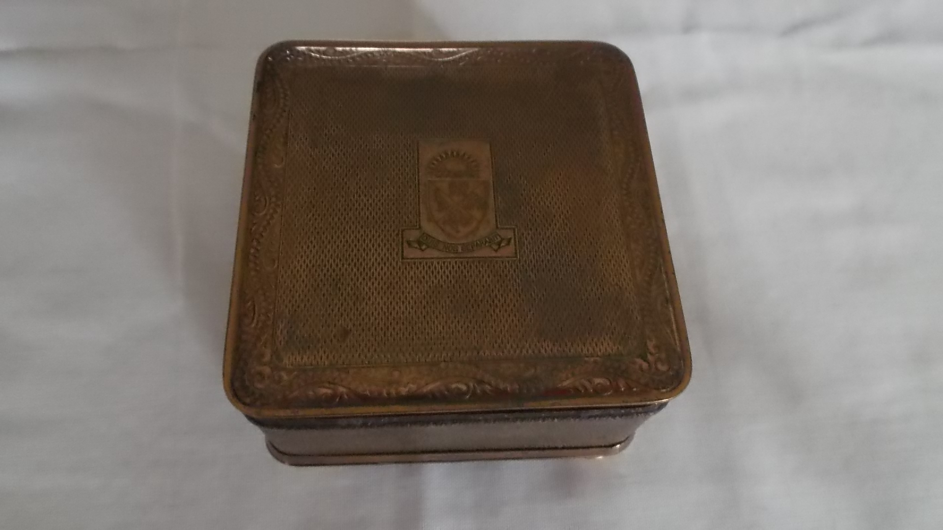 SOUVENIR LADIES JEWELLERY BOX FROM THE P&O LINE VESSEL THE SS ARCADIA