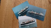 SET OF 3 B/W PHOTOGRAPH VIEWS OF THE CARGO VESSEL ARGENTINA STAR TAKEN EARLY ON IN HER HISTORY