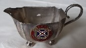 SILVER PLATED DINING TABLE MILK JUG FROM THE UNION CASTLE LINE VESSEL THE ARMADALE CASTLE