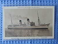 B/W PHOTOGRAPH OF THE UNION CASTLE LINE VESSEL THE ARUNDEL CASTLE
