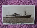 B/W ORIGINAL OLD POSTCARD OF THE UNION-CASTLE LINE VESSEL THE ATHLONE CASTLE