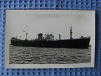 B/W PHOTOGRAPH OF THE BANK LINE VESSEL THE BEAVERBANK