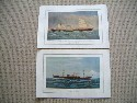 PAIR OF ORIGINAL PRINTS FROM THE BEN LINE SHIPPING COMPANY