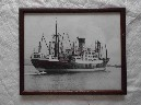 EARLY FRAMED PHOTOGRAPH OF THE BLUE FUNNEL LINE VESSEL THE SS PYRRHUS