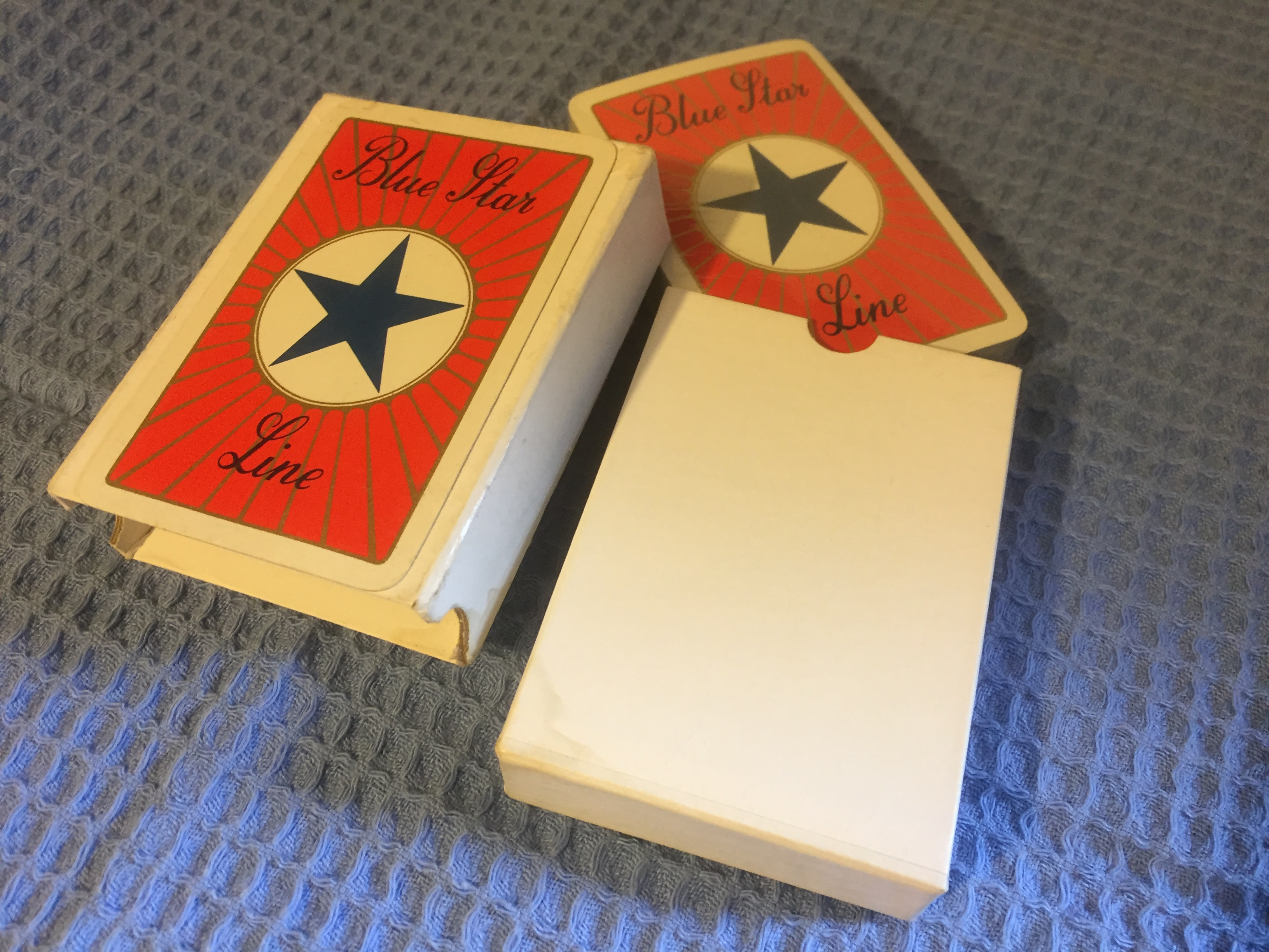 SET OF UNUSED AND UNOPENED PLAYING CARDS FROM THE BLUE STAR LINE