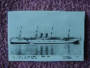 ORIGINAL EARLY B/W POSTCARD OF THE P&O LINE VESSEL THE SS CALEDONIA BUILT 1894