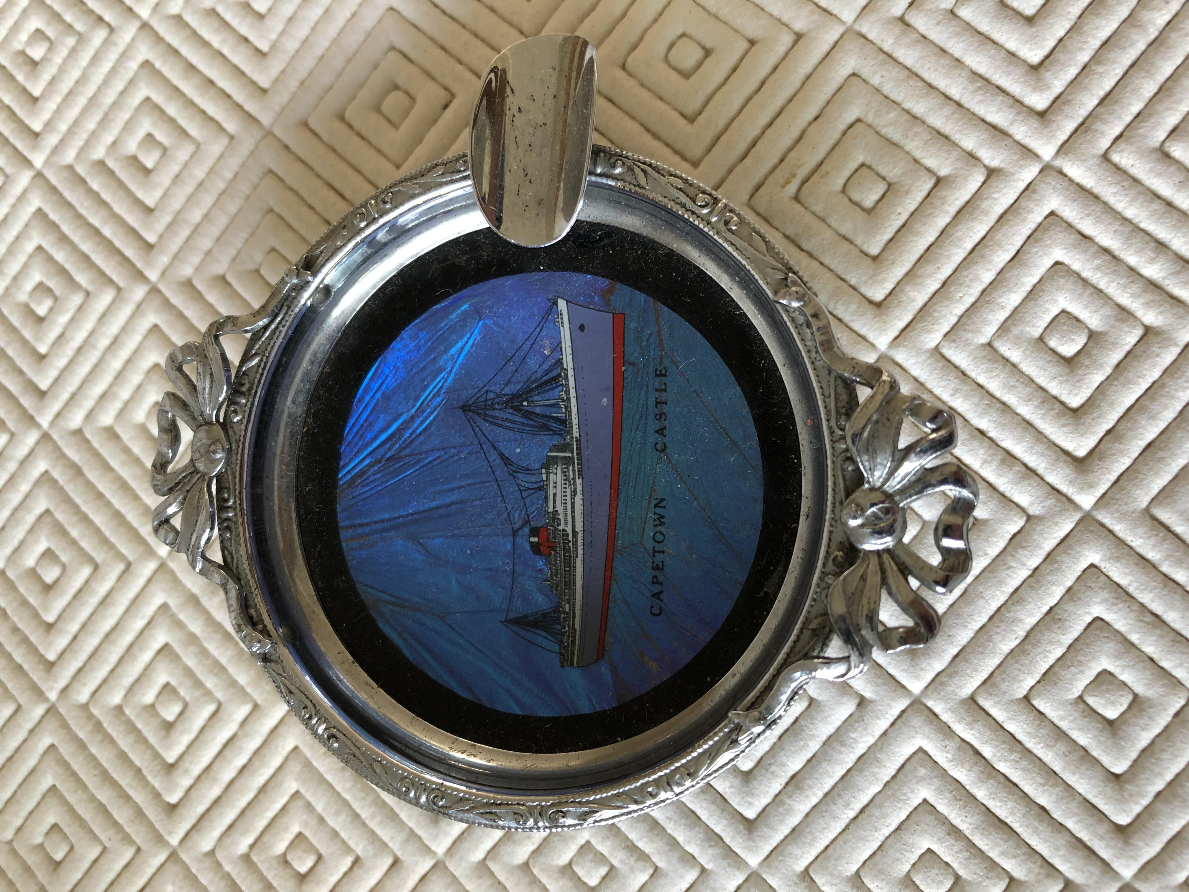 ASHTRAY SOUVENIR FROM THE UNION CASTLE LINE VESSEL THE CAPETOWN CASTLE