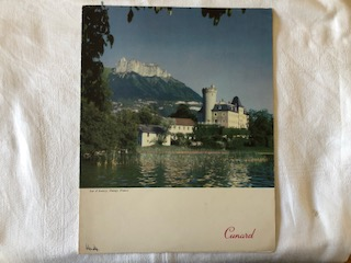 DINNER MENU FROM THE CUNARD LINE VESSEL THE CARINTHIA DATED 1957