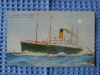 ORIGINAL OLD POSTCARD OF WHITE STAR LINE VESSEL THE CERAMIC