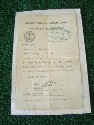 WW2 MERCHANT NAVY GUNNERY COURSE PASS FOR A 'OERLIKON GUN'