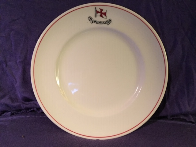 DINNER PLATE FROM THE CHARENTE STEAMSHIP COMPANY