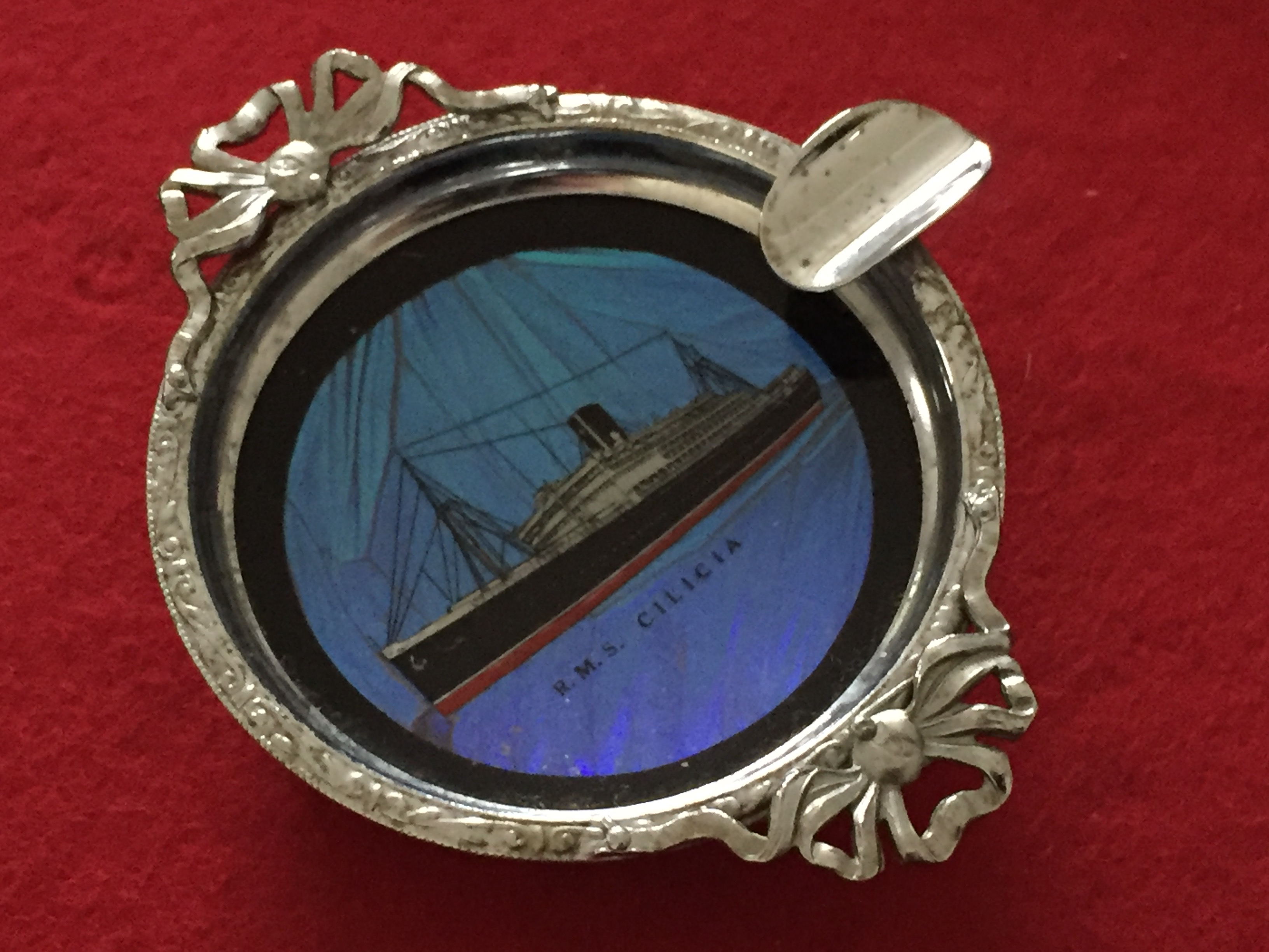 VERY RARE FIND OF A SOUVENIR DISH FROM THE VESSEL THE RMS CILICIA