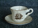 UNUSUAL MINI CUP & SAUCER SOUVENIR FROM THE CUTTY SARK