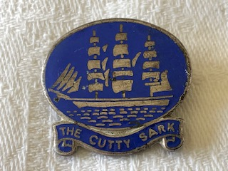 EARLY LAPEL PIN BADGE FROM THE VESSEL THE CUTTY SARK