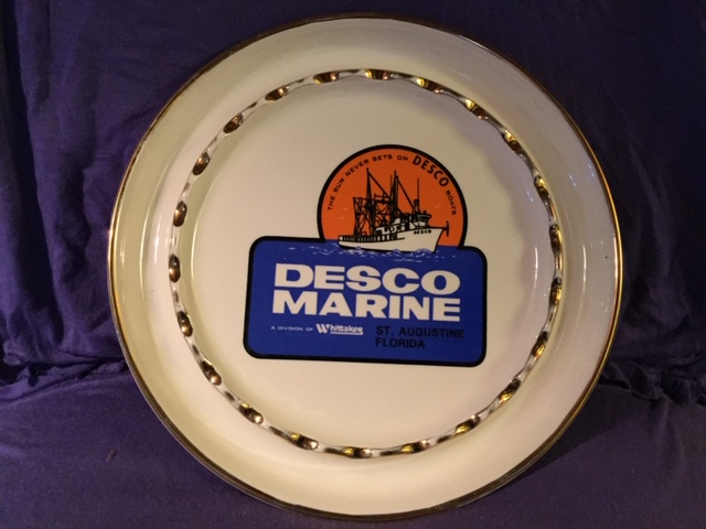 SOUVENIR DISH FROM THE DESCO MARINE SALVAGE COMPANY