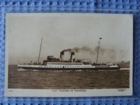 B/W POSTCARD OF THE VESSEL THE TSS DUCHESS OF MONTROSE