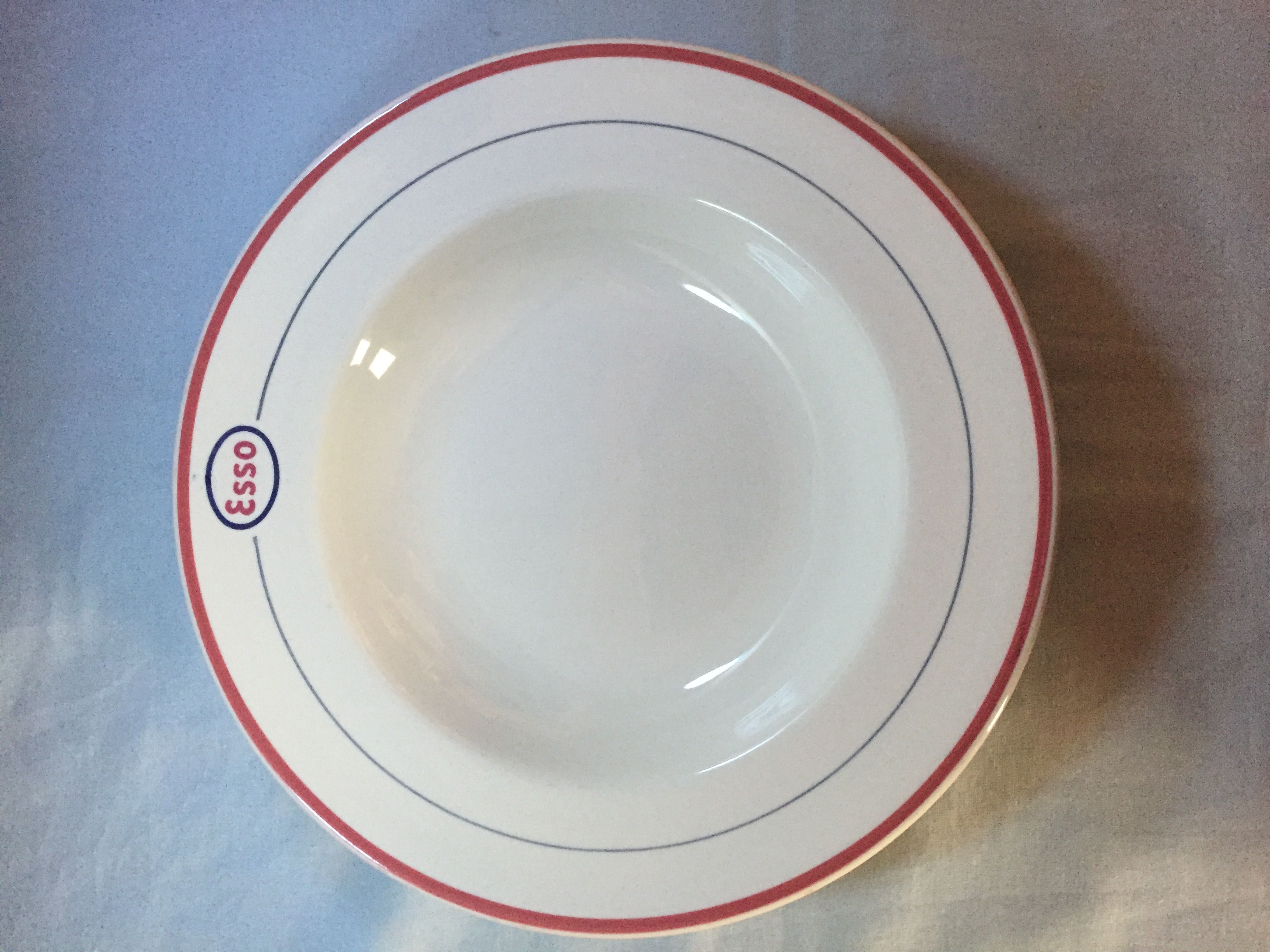 RARE DINING DESSERT BOWL FROM THE ESSO OIL TANKERS COMPANY