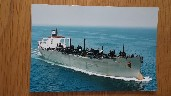 POSTCARD SIZE COLOUR PHOTOGRAPH OF THE ESSO TAKERS COMPANY VESSEL THE ESSO FORTH