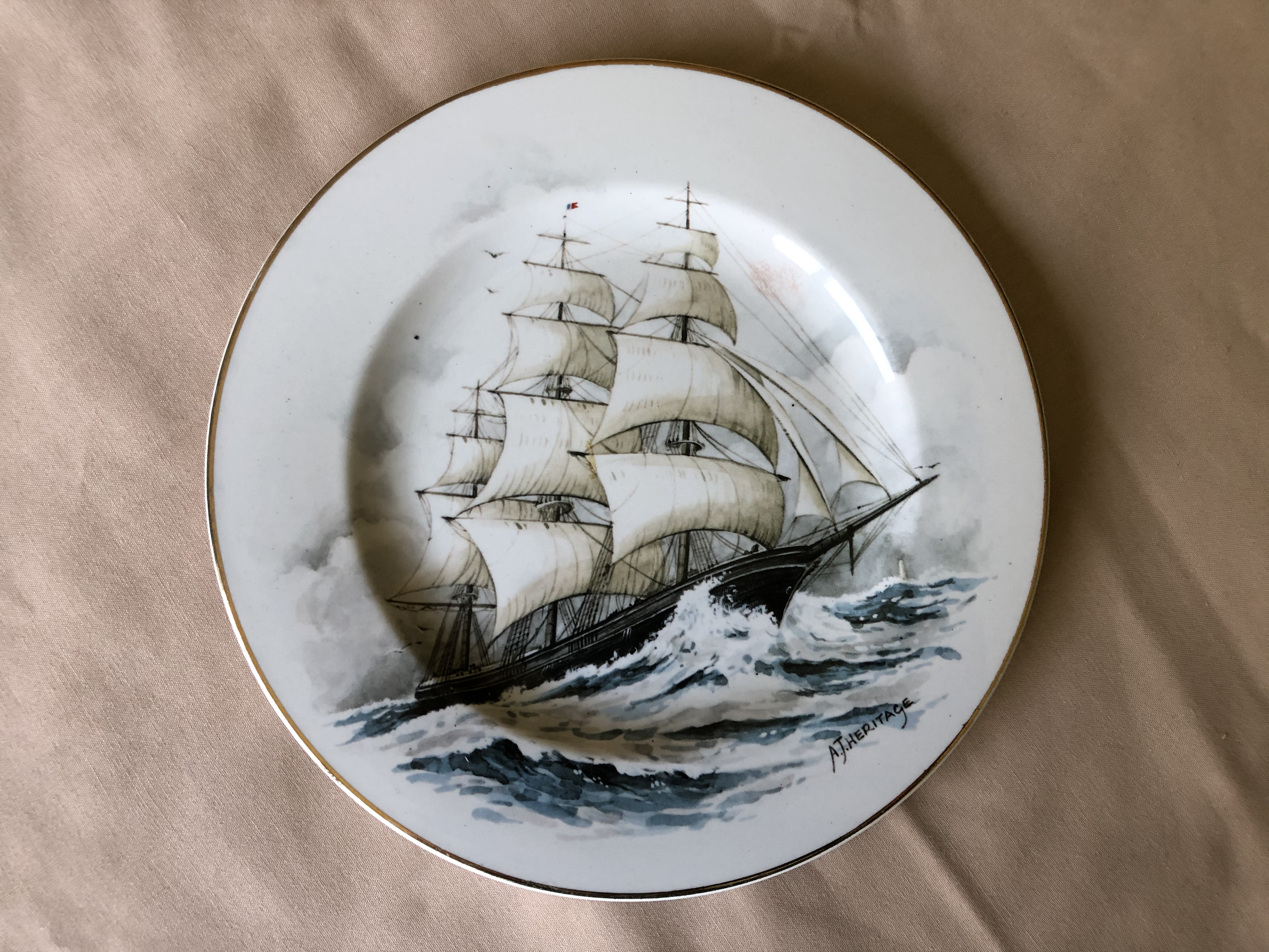 DISPLAY PLATE OF THE OLD SEA GOING VESSEL THE FYING CLOUD