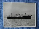 OVERSIZE B/W PHOTOGRAPH OF THE OLD BANK LINE VESSEL 'THE GARRYBANK'