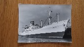 B/W PHOTOGRAPH OF THE CARGO VESSEL GLADSTONE STAR TAKEN EARLY ON IN HER HISTORY