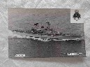 POSTCARD SIZE PHOTOGRAPH OF THE ROYAL NAVAL VESSEL HMS ANDROMEDA