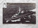 POSTCARD SIZE PHOTOGRAPH OF THE ROYAL NAVAL VESSEL HMS ARROW