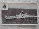 POSTCARD OF THE ROYAL NAVAL VESSEL HMS BRIGHTON