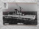 POSTCARD SIZE PHOTOGRAPH OF THE ROYAL NAVAL VESSEL HMS HERMIONE