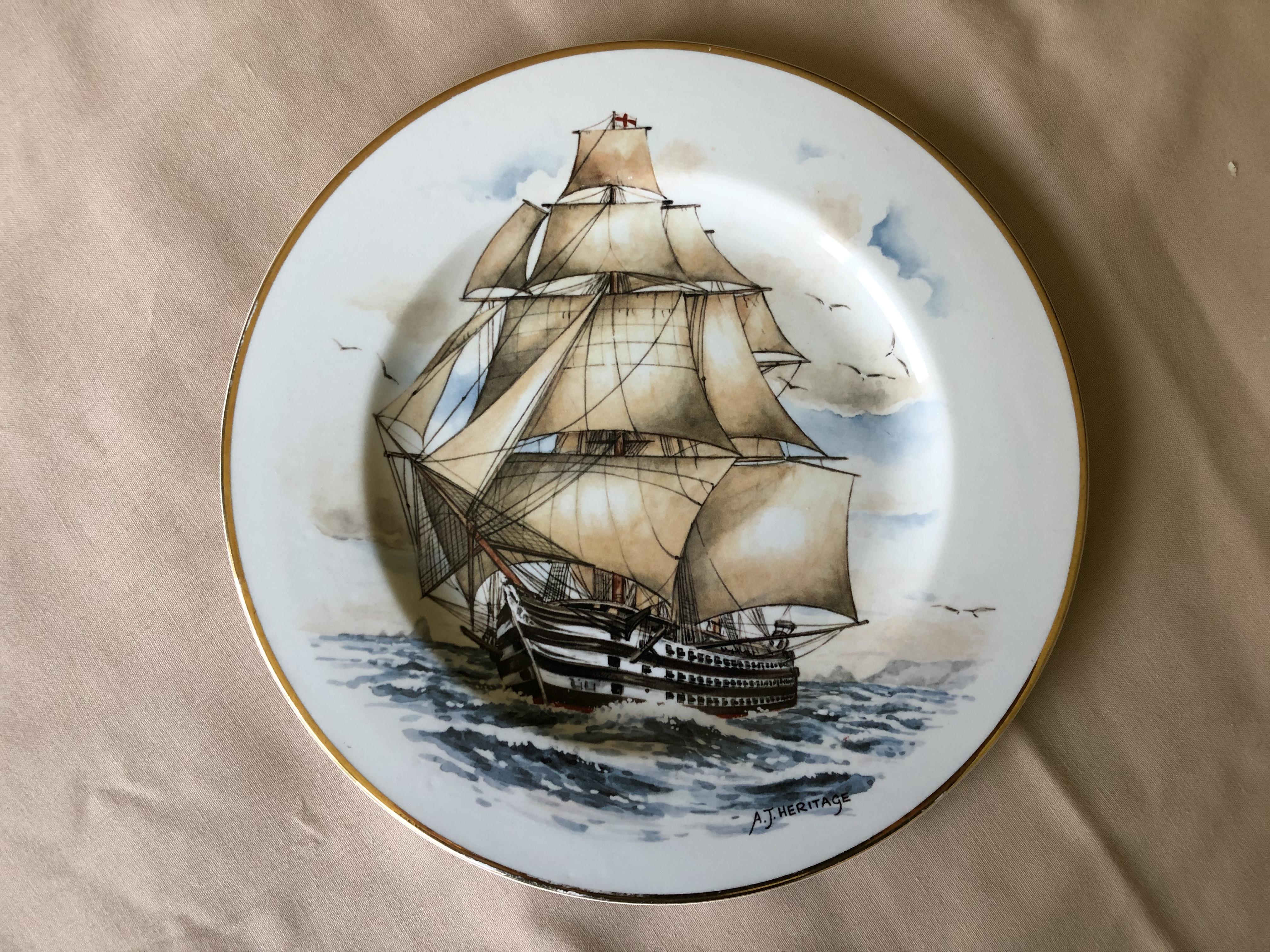 SOUVENIR PLATE OF THE WOODEN VESSEL HMS VICTORIA 1859