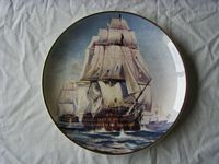 COMMEMORATIVE PLATE OF THE VESSEL HMS VICTORY