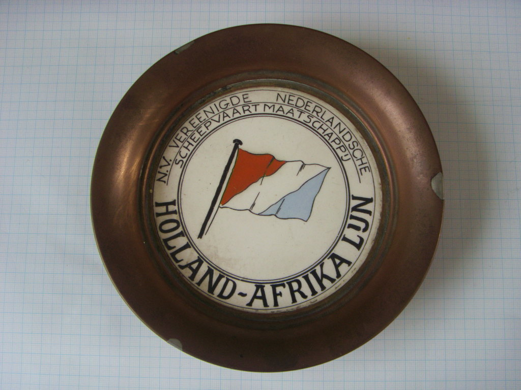 COPPER DISH SOUVENIR FROM THE HOLLAND AFRIKA LINE
