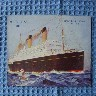 ORIGINAL OLD POSTCARD OF WHITE STAR LINE VESSEL THE HOMERIC