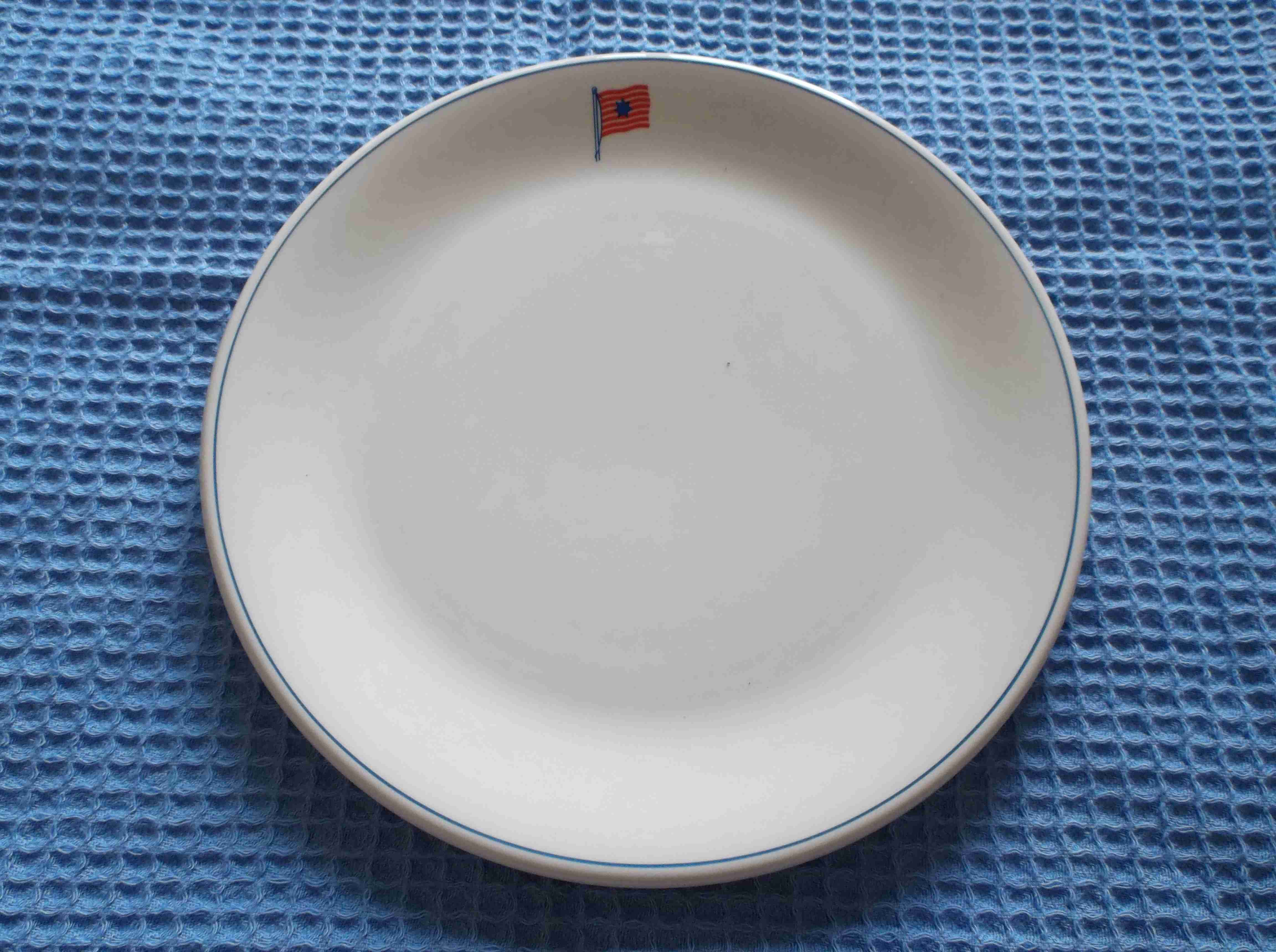 DINING PLATE FROM THE BRITISH TANKER COMPANY HUNTING AND SON AND THE VESSEL THAMESFIELD