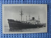B/W POSTCARD OF THE VESSEL THE INDUS