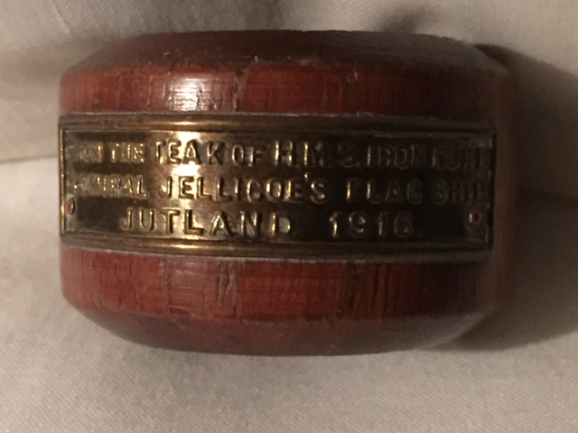 NAPKIN RING MADE FROM THE TIMBERS OF THE OLD SHIP IRON DUKE