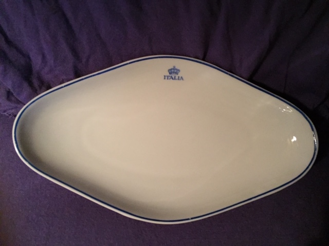 OVAL DISH FROM THE SHIPPING COMPANY THE ITALIA LINE