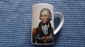 SOUVENIR HORATIO NELSON MUG PRODUCED BY THE NATIONAL PORTRAIT GALLERY
