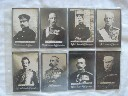 SET OF 8 OGDEN'S GUINEA GOLD CIGARETTES SHOWING MARITIME MILITARY LEADERS FROM EARLY 1900's