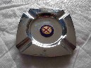CHROME ASHTRAY FROM THE B.I.S.N.Co. VESSEL THE SS NEVASA
