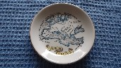ROUND SOUVENIR DISH FROM THE B.I.S.N.Co. VESSEL THE SS NEVASA
