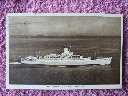ORIGINAL B/W POSTCARD OF THE ORIENT LINE VESSEL THE RMS ORCADES