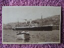 B/W POSTCARD OF THE ORIENT LINE VESSEL THE RMS ORFORD