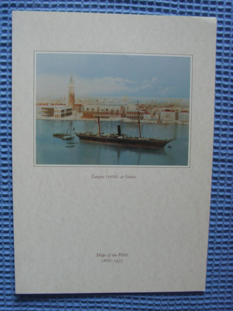DINNER MENU FOR THE OLD ORIENT LINE VESSEL THE SS ORIANA DATED JULY 1998