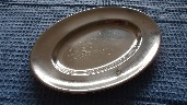 SILVER PLATED OVAL SERVING DISH FROM THE ORIENT LINE SHIPPING COMPANY